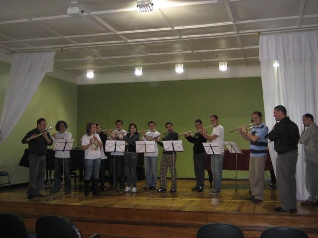 Abertura do Encontro de Flautistas em Pelotas